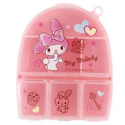 小禮堂 美樂蒂 塑膠半圓七格藥盒 隨身藥盒 藥物收納盒 分裝盒 小物盒 (粉 禮物)