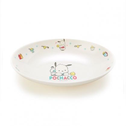 小禮堂 帕恰狗 橢圓形美耐皿盤 兒童餐盤 沙拉盤 點心盤 塑膠盤 (米 2021新生活)