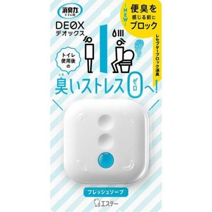 小禮堂 雞仔牌 可立式方形室內芳香劑 浴廁芳香劑 除臭劑 百花香 6ml (白)