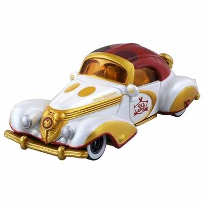 小禮堂 TOMICA多美小汽車 迪士尼 米奇 老爺車 特仕車 玩具車 模型車 (紅黃)