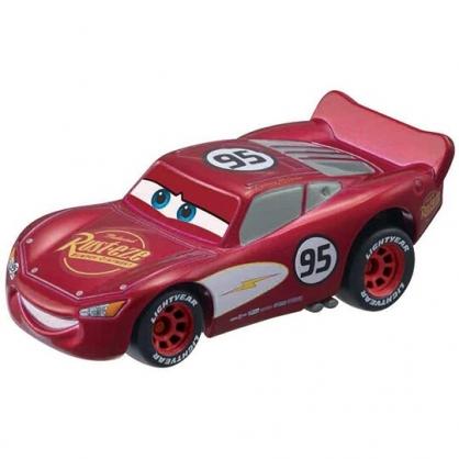 小禮堂 TOMICA多美小汽車 迪士尼 閃電麥坤 跑車 玩具車 模型車 (C-03 紅)