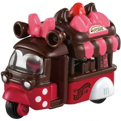 小禮堂 TOMICA多美小汽車 迪士尼 米妮 爆米花車 特仕車 玩具車 模型車 (粉棕)