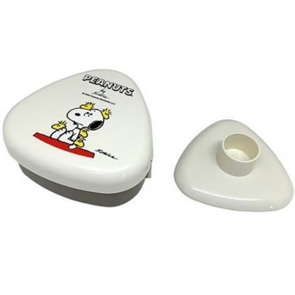 小禮堂 史努比 日製 三角飯糰保鮮盒 微波便當盒 塑膠便當盒 飯糰模具 (米 狗屋)