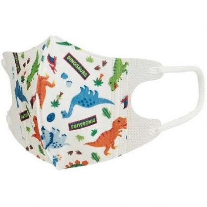 小禮堂 恐龍 兒童不織布口罩組 立體口罩 拋棄式口罩 兒童口罩 (5入 綠 火山)