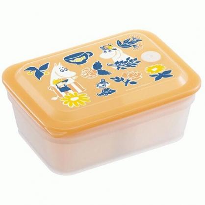 小禮堂 史努比 日製 方形微波保鮮盒 塑膠保鮮盒 便當盒 450ml Ag+ (黃 對話框)