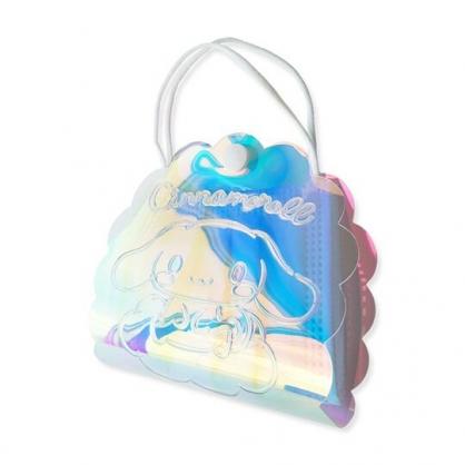 小禮堂 大耳狗 造型塑膠扣式口罩提包 透明口罩夾 口罩包 口罩套 (鐳射光)