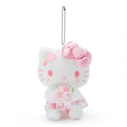 小禮堂 Hello Kitty 絨毛吊飾 櫻花吊飾 玩偶吊飾 玩偶鑰匙圈 包包吊飾  (粉 大和櫻花)