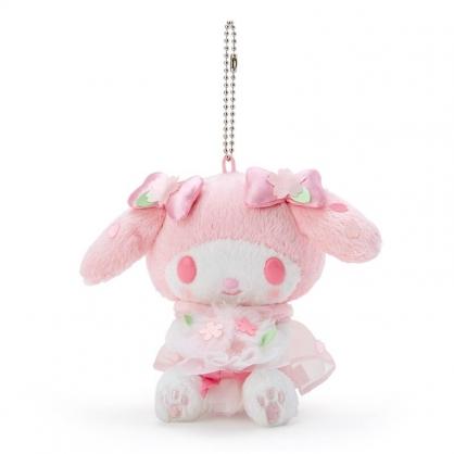 小禮堂 美樂蒂 絨毛吊飾 櫻花吊飾 玩偶吊飾 玩偶鑰匙圈 包包吊飾  (粉 大和櫻花)