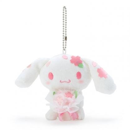 小禮堂 大耳狗 絨毛吊飾 櫻花吊飾 玩偶吊飾 玩偶鑰匙圈 包包吊飾  (粉 大和櫻花)