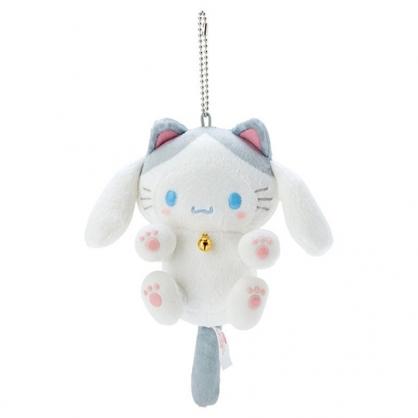 小禮堂 大耳狗 貓咪絨毛吊飾 貓咪吊飾 玩偶吊飾 玩偶鑰匙圈 包包吊飾 (白)