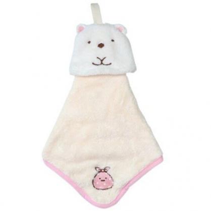 小禮堂 角落生物 北極熊 可掛式造型擦手巾 吸水毛巾 擦手毛巾 丸真毛巾 30x30cm (白)
