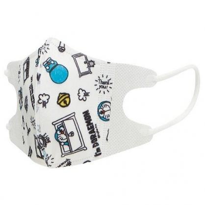 小禮堂 哆啦A夢 兒童不織布口罩組 立體口罩 拋棄式口罩 兒童口罩 (5入 藍 滿版)