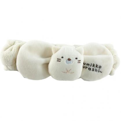 小禮堂 角落生物 貓咪 玩偶造型鬆緊束髮帶 絨毛髮帶 洗臉髮帶 髮箍 (黃)