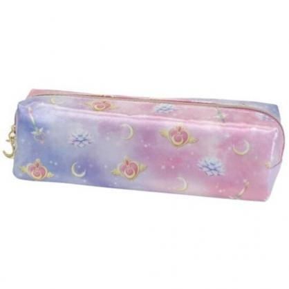 小禮堂 美少女戰士 方形尼龍拉鍊筆袋 尼龍筆袋 鉛筆盒 鉛筆袋 (粉紫 滿版)
