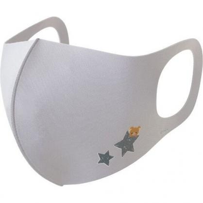 小禮堂 懶懶熊 成人布口罩組 棉口罩 立體口罩 防塵口罩 可水洗 (3入 灰 星星)