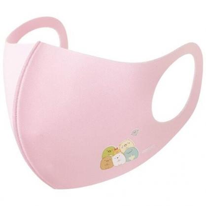 小禮堂 角落生物 兒童布口罩組 棉口罩 立體口罩 防塵口罩 可水洗 (3入 粉 排坐)