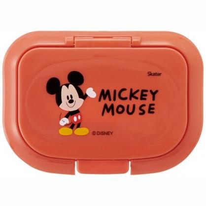 小禮堂 迪士尼 米奇 方形塑膠濕紙巾蓋 濕巾盒蓋 濕巾蓋 抗菌Ag+ (橘 Q版)