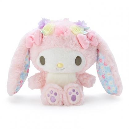 小禮堂 美樂蒂 沙包絨毛玩偶 兔耳玩偶 沙包娃娃 小玩偶 布偶 (粉 2021復活節)