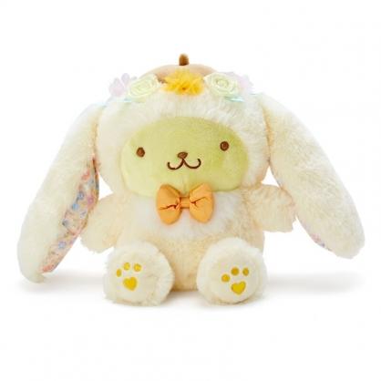 小禮堂 布丁狗 沙包絨毛玩偶 兔耳玩偶 沙包娃娃 小玩偶 布偶 (黃 2021復活節)