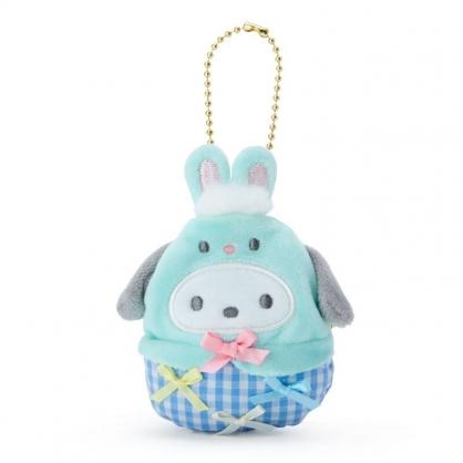 小禮堂 帕恰狗 造型絨毛口金零錢包 掛飾零錢包 口金包 耳機包 (綠 2021復活節)