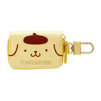 小禮堂 布丁狗 皮質拉鍊鑰匙包 遙控器包 磁扣包 零錢包 鑰匙圈 (黃 大臉)