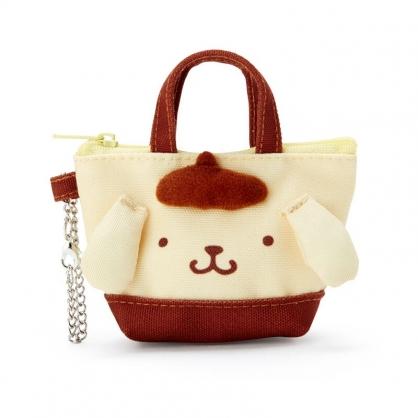 小禮堂 布丁狗 造型帆布零錢包 掛飾零錢包 耳機包 鑰匙包 (黃 手提袋)