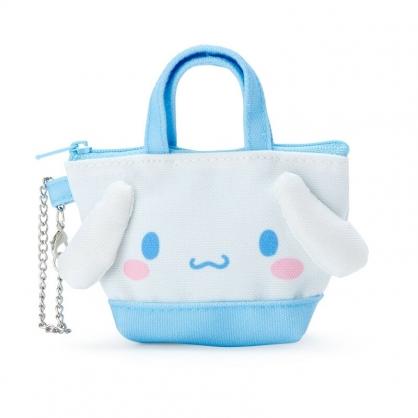 小禮堂 大耳狗 造型帆布零錢包 掛飾零錢包 耳機包 鑰匙包 (藍 手提袋)