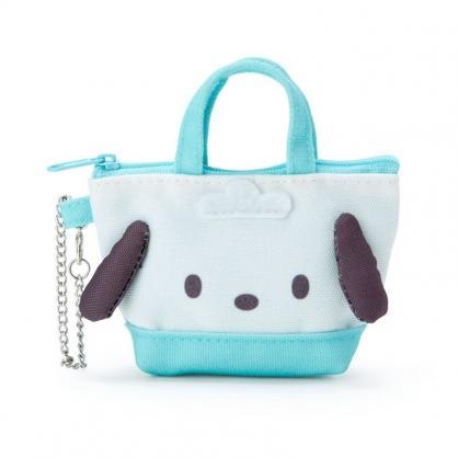小禮堂 帕恰狗 造型帆布零錢包 掛飾零錢包 耳機包 鑰匙包 (綠 手提袋)