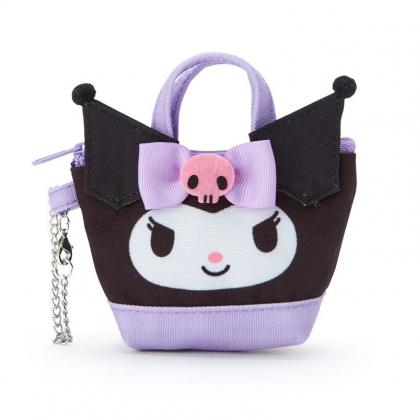 小禮堂 酷洛米 造型帆布零錢包 掛飾零錢包 耳機包 鑰匙包 (紫 手提袋)