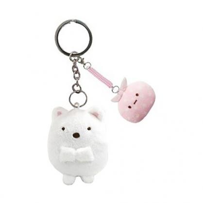 小禮堂 角落生物 絨毛鑰匙圈 眼鏡布 絨毛吊飾 玩偶鑰匙圈 拭鏡布 (白 北極熊)
