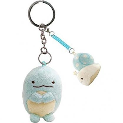小禮堂 角落生物 絨毛鑰匙圈 眼鏡布 絨毛吊飾 玩偶鑰匙圈 拭鏡布 (藍 孔龍)