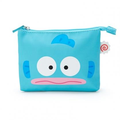 小禮堂 人魚漢頓 皮質雙層化妝包 三角化妝包 文具包 收納包 (藍 生日漫畫)