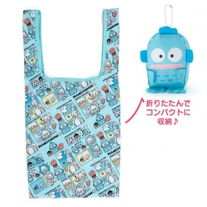 小禮堂 人魚漢頓 折疊尼龍環保購物袋 折疊環保袋 側背袋 手提袋 (藍 生日漫畫)