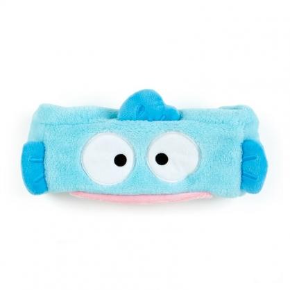 小禮堂 人魚漢頓 造型鬆緊束髮帶 絨毛髮帶 洗臉髮帶 髮箍 (藍 生日漫畫)