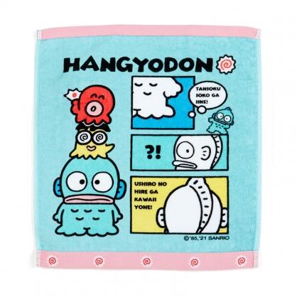 小禮堂 人魚漢頓 純棉割絨短毛巾 純棉毛巾 方形毛巾 方巾 34x36cm (藍 生日漫畫)