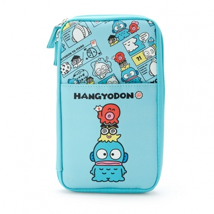 小禮堂 人魚漢頓 皮質多功能收納包 證件包 護照包 文具包 工具包 (藍 生日漫畫)