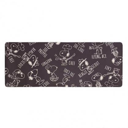 小禮堂 史努比 長方形矽膠地墊 軟墊 腳踏墊 遊戲墊 抗菌防臭 45x120cm (黑 廚師)