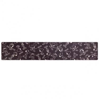 小禮堂 史努比 長方形矽膠地墊 軟墊 腳踏墊 遊戲墊 抗菌防臭 45x240cm (黑 廚師)