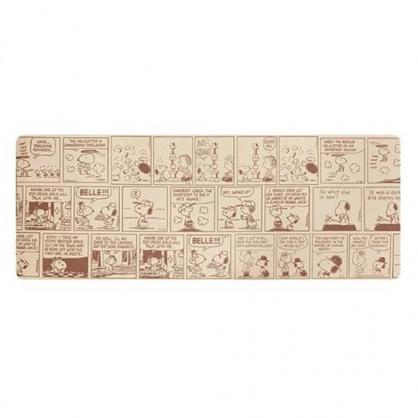 小禮堂 史努比 長方形矽膠地墊 軟墊 腳踏墊 遊戲墊 抗菌防臭 45x120cm (棕 漫畫)
