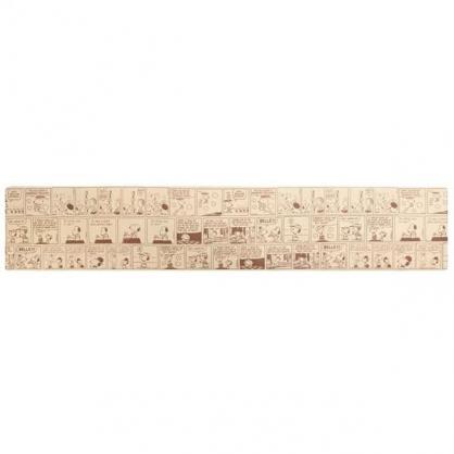 小禮堂 史努比 長方形矽膠地墊 軟墊 腳踏墊 遊戲墊 抗菌防臭 45x240cm (棕 漫畫)