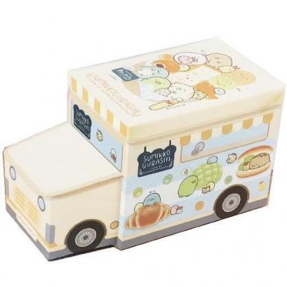 小禮堂 角落生物 造型折疊拿蓋收納箱 不織布收納箱 收納箱座椅 玩具箱 (黃車)