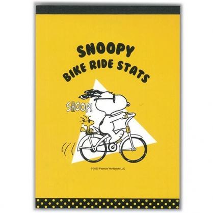 小禮堂 史努比 日製 便條本 便條紙 便箋本 備忘錄 (黃 腳踏車)