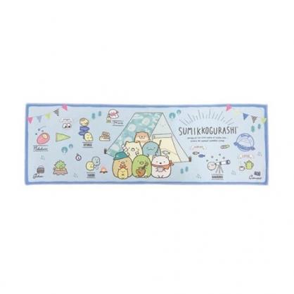 小禮堂 角落生物 涼感長毛巾 附收納罐 運動毛巾 擦汗巾 冷敷巾 冰巾  30x90cm (藍 露營)