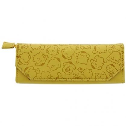 小禮堂 布丁狗 方形皮質掀蓋拉鍊筆袋 皮質眼鏡盒 皮質筆袋 鉛筆盒 (黃壓紋)