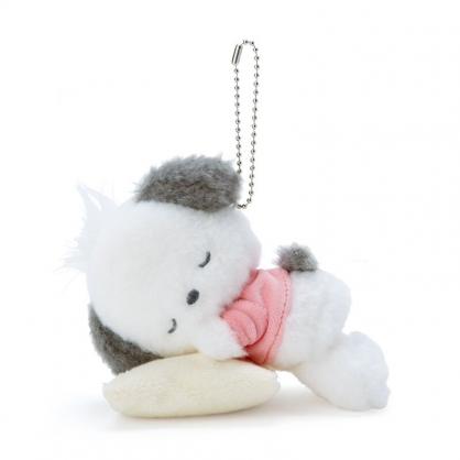 小禮堂 帕恰狗 絨毛吊飾 玩偶吊飾 玩偶鑰匙圈 包包吊飾 (白 生日戰隊)