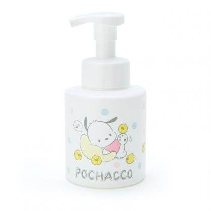 小禮堂 帕恰狗 塑膠按壓式空瓶 幕斯空瓶 沐浴乳罐 洗手乳罐 泡泡瓶 350ml (白 生日戰隊)