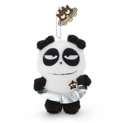 小禮堂 酷企鵝 熊貓 絨毛吊飾 玩偶吊飾 玩偶鑰匙圈 包包吊飾 (白 生日宇宙)