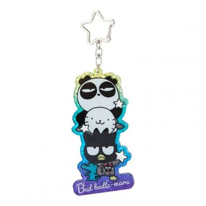 小禮堂 酷企鵝 造型壓克力鑰匙圈 鐳射光鑰匙圈 壓克力吊飾 掛飾 (紫 生日宇宙)