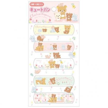小禮堂 懶懶熊 日製 OK繃 貼布 繃帶 絆創貼 袋裝 10枚入 (粉 鬱金香)