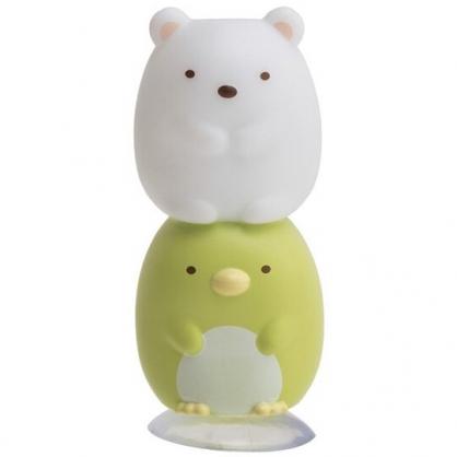 小禮堂 角落生物 造型矽膠牙刷架 吸盤牙刷架 牙刷座 筆架 (北極熊&企鵝)
